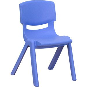 Flash Furniture Plastic Stackable School Chairs, 12'' Seat Height, Blue, Set of 4 $59 @ walmart