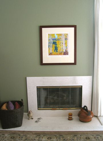 Sage green walls with pops of color! | Interior Decorating ...