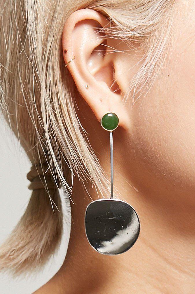 Faris Small Pendo Drop Earrings in Sterling Silver