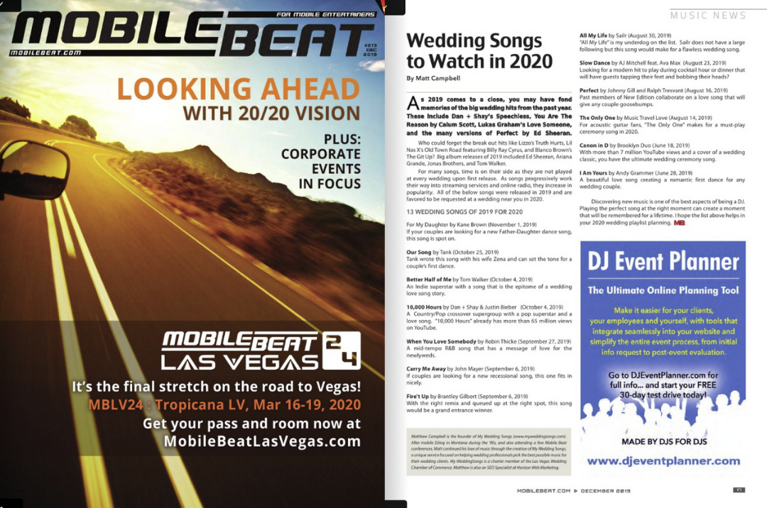 We were featured in the December 2019 Mobile Beat Magazine