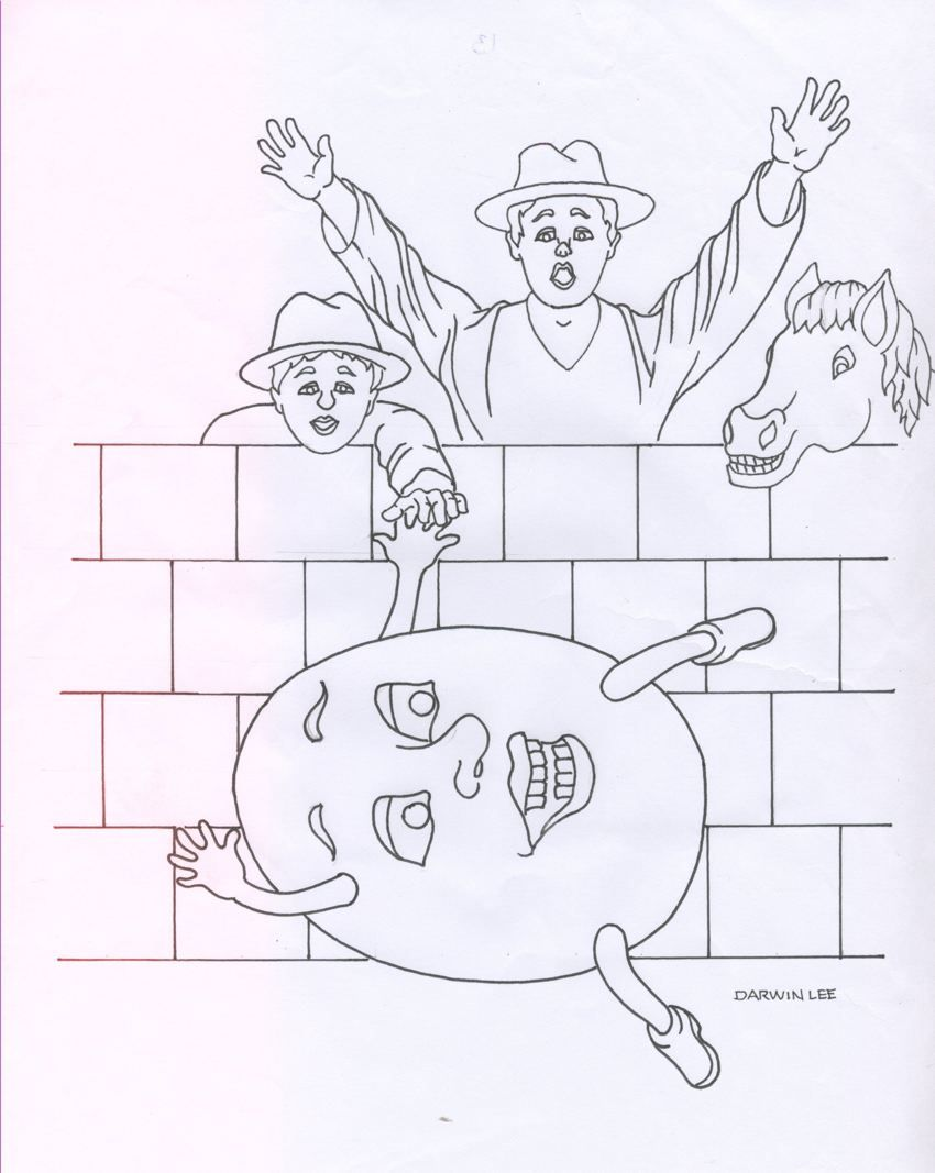 Humpty dumpty coloring pages to download and print for free ...