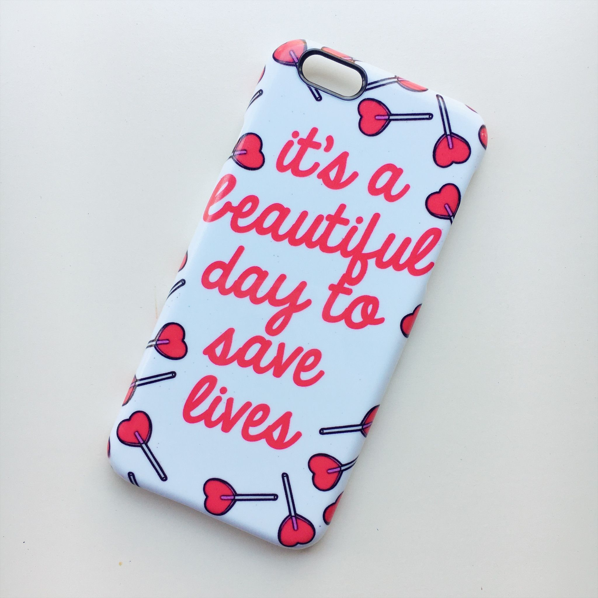 It\'s a Beautiful Day To Save Lives Grey\'s Anatomy iPhone 6/6S Case ...