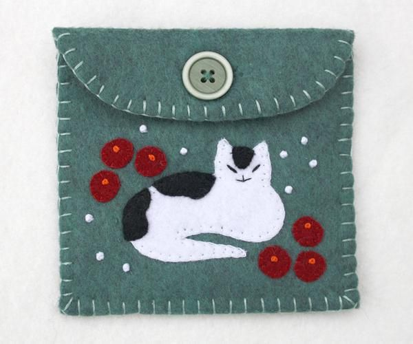 Cat coin purse, Christmas gift bag