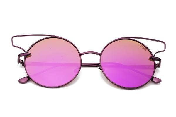 THE FLAIR | Óculos de sol redondo com inspiração olho de gato e cortado a laser
