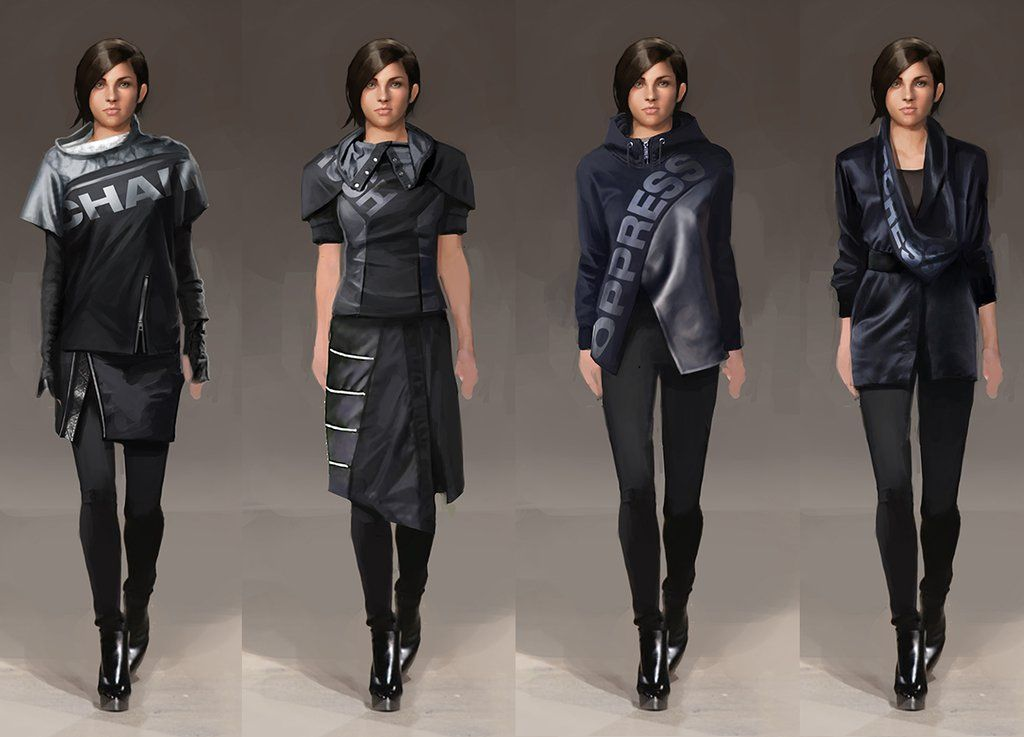 Concept art for Deus Ex Mankind Divided - Clothing for ...