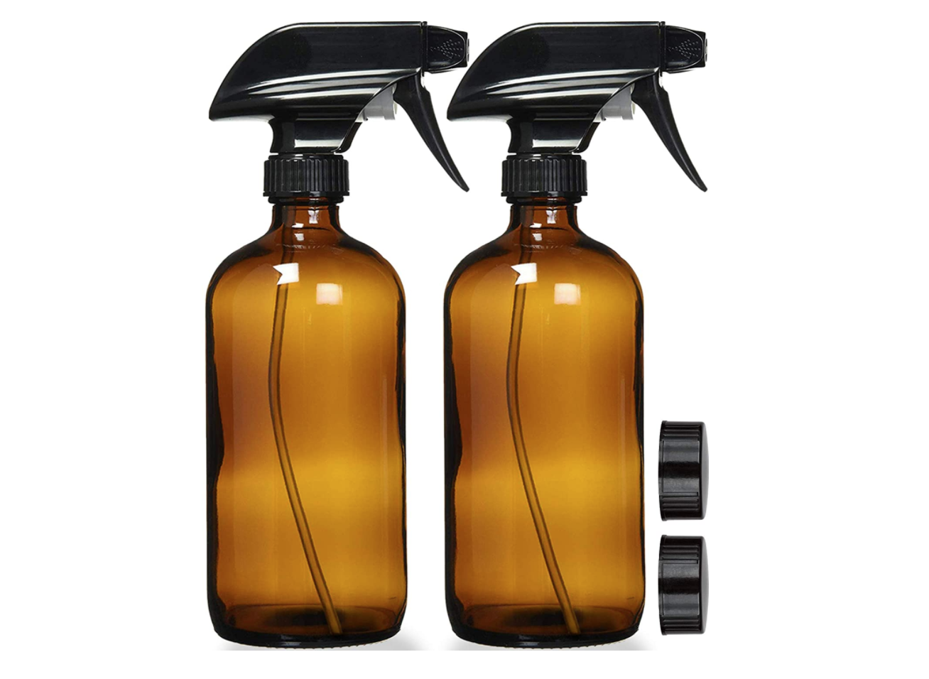 Eco Friendly Cleaning Empty Amber Glass Spray Bottles With Labels Refillable Container Glass Spray Bottle Amber Glass Bottles Glass