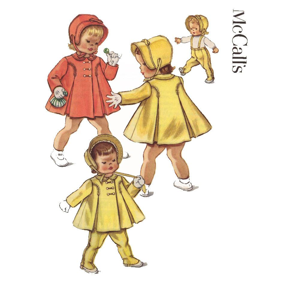 Toddlers 1950s coat hat leggings pattern mccalls 2365 bonnet and toddlers 1950s coat hat leggings pattern mccalls 2365 bonnet and suspenders vintage childrens sewing pattern breast jeuxipadfo Choice Image