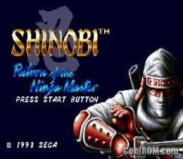 Shinobi 3 Return Of The Ninja Master Rom Download For Sega Genesis Coolrom Com Ninja Master Sega Video Game Music