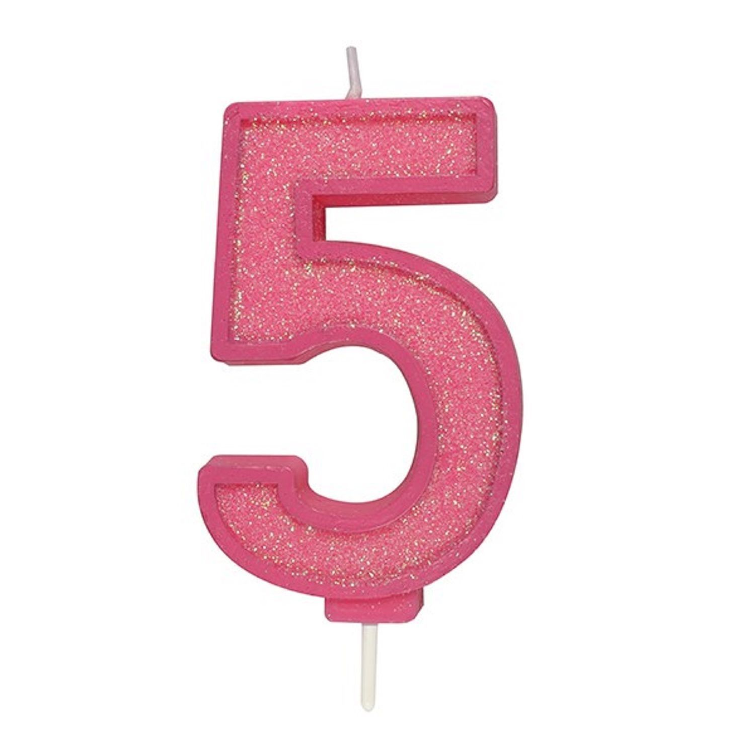 Number pink sparkly glitter age candle cake cupcake birthday
