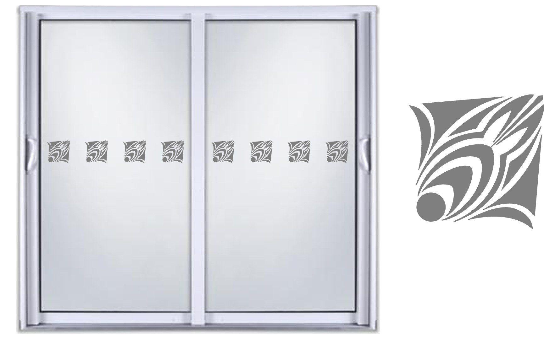 Safety diy etched glass vinyl privacy film glass door decals sliding door window decal stickers 01