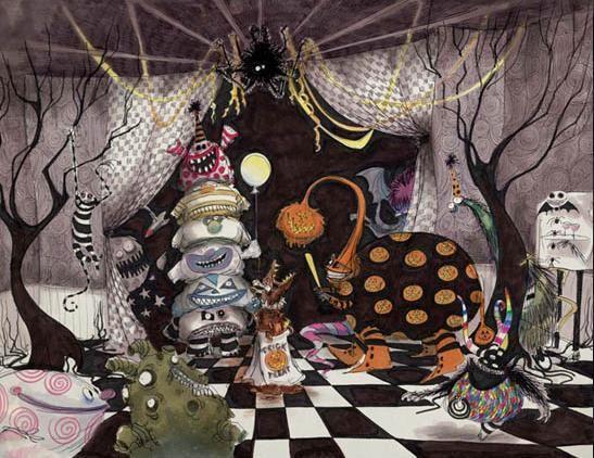 Tim Burton Illustration and Coloring Pinterest Tim burton and - tim burton halloween decorations