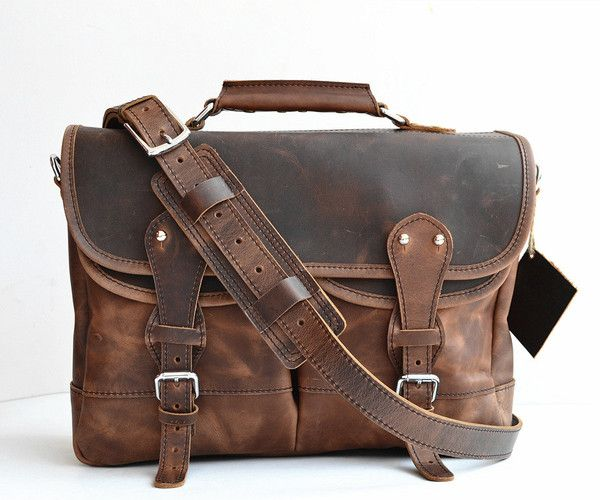 Leather Anglers bag briefcase