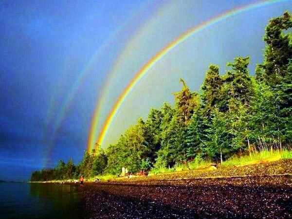 Awesome Quadruple Rainbow