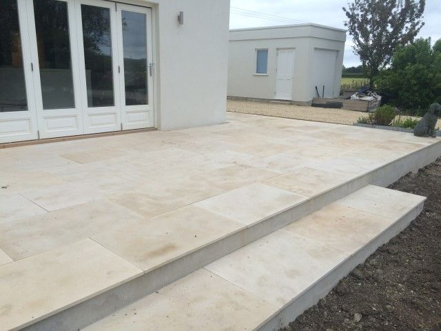 Indian Sandstone Patio Installation, Dorset