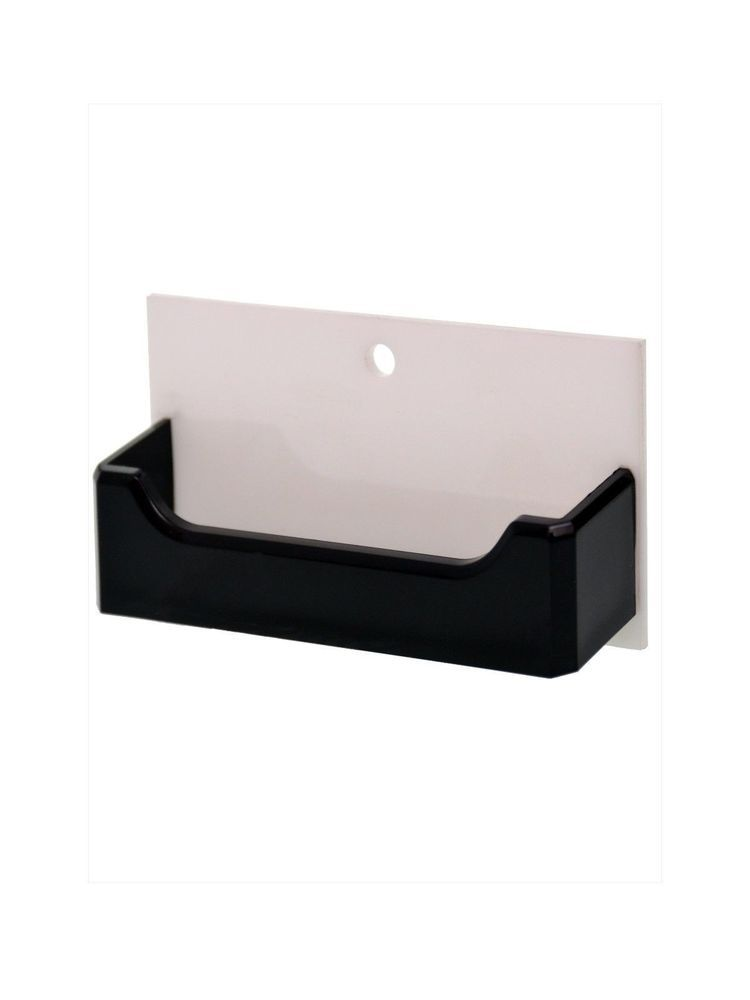 Wall Mount Business Card Gift Card Holder Display White Black Hole