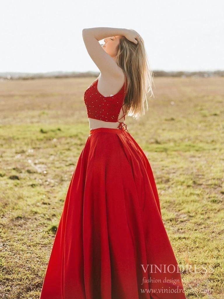 2 Piece Red Satin Prom Dresses Lace Up Back Plus Size Prom Dress Fd2066 1000 Red Satin Prom Dress Plus Size Prom Dresses Prom Dresses Long Lace [ 1024 x 768 Pixel ]