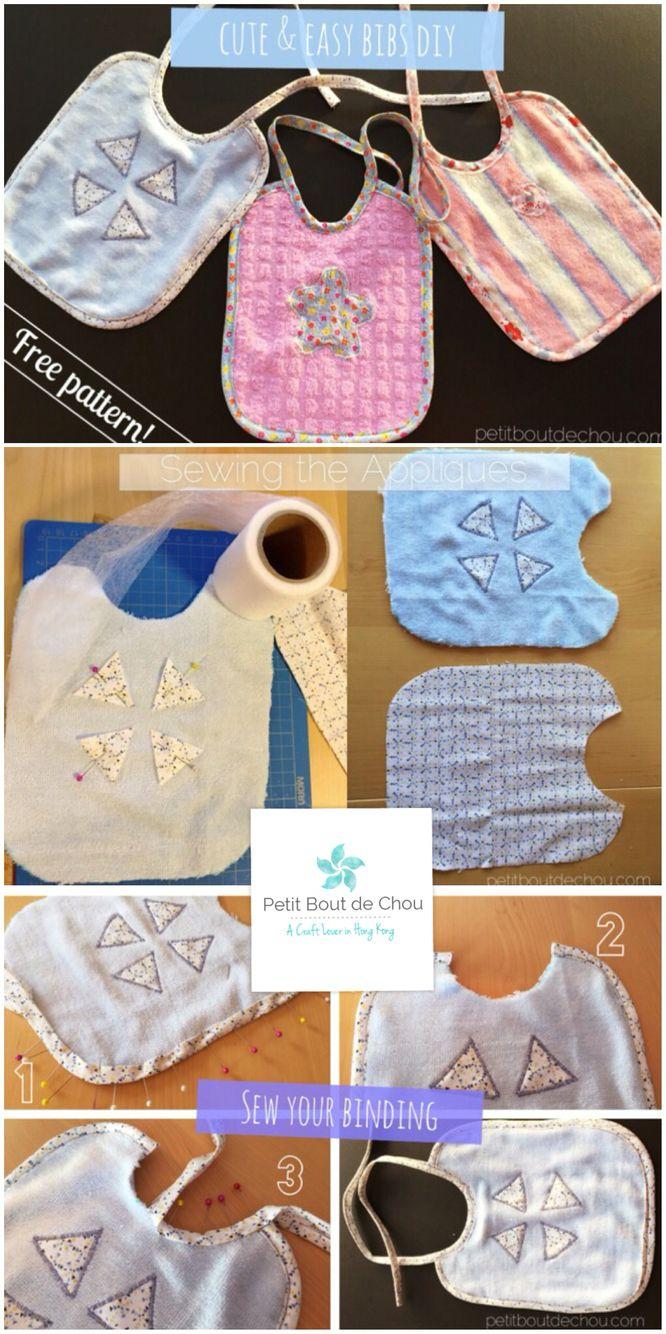 DIY: Cute and Easy Baby Bib   Nähen baby, die Kleinen und Nähen