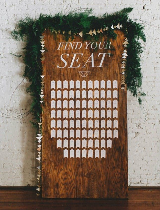 20 Unique Wedding Seating Chart Displays via Brit + Co