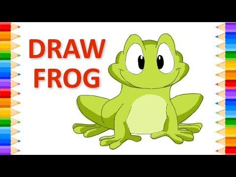 How to Draw Frog Step By Step   Drawing for kids, Drawings ...