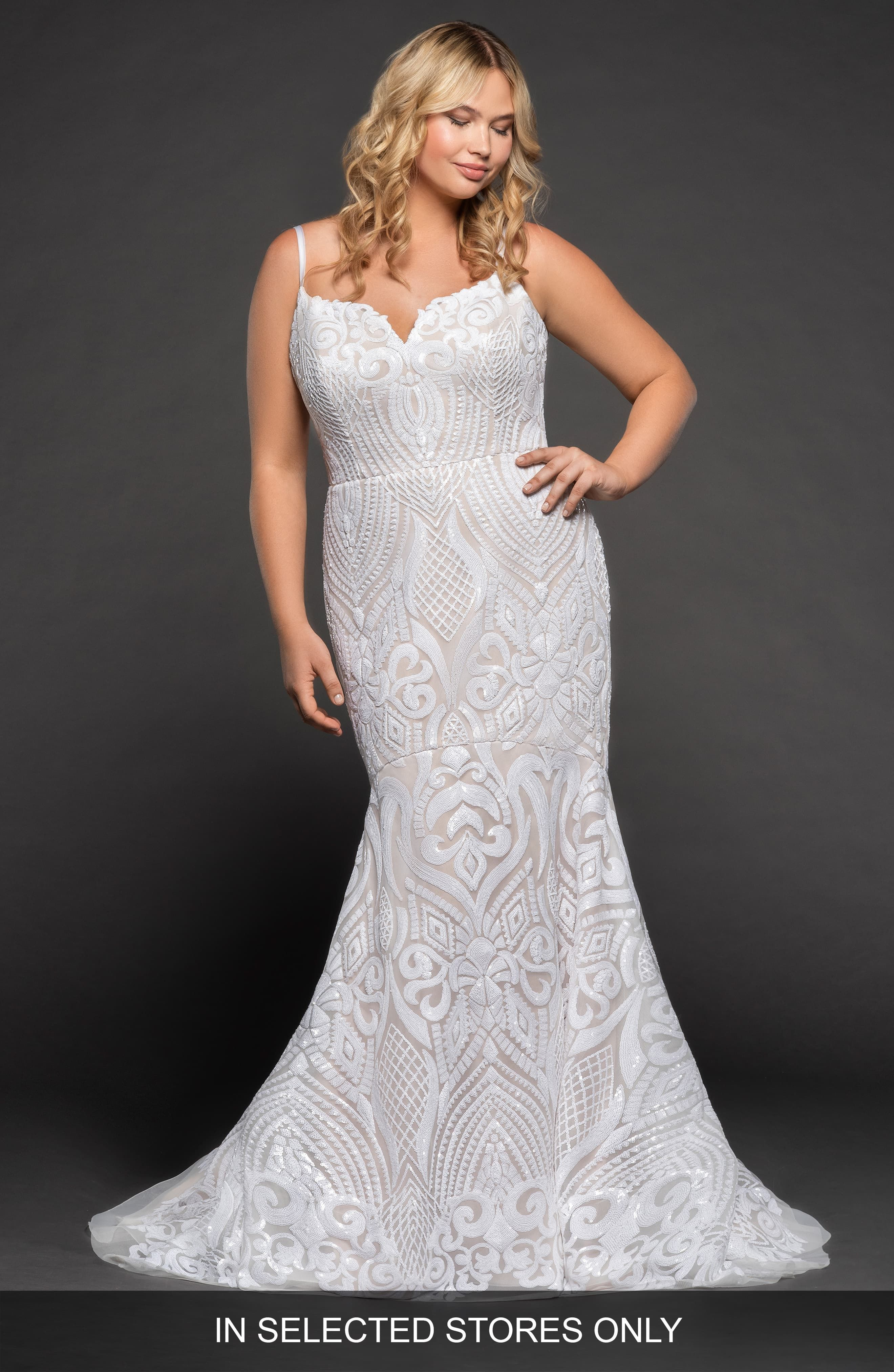 Plus Size Women S Blush By Hayley Paige West Mermaid Gown Size Ivory Fit And Flare Wedding Dress Fitted Wedding Dress Wedding Dresses Kleinfeld [ 4048 x 2640 Pixel ]