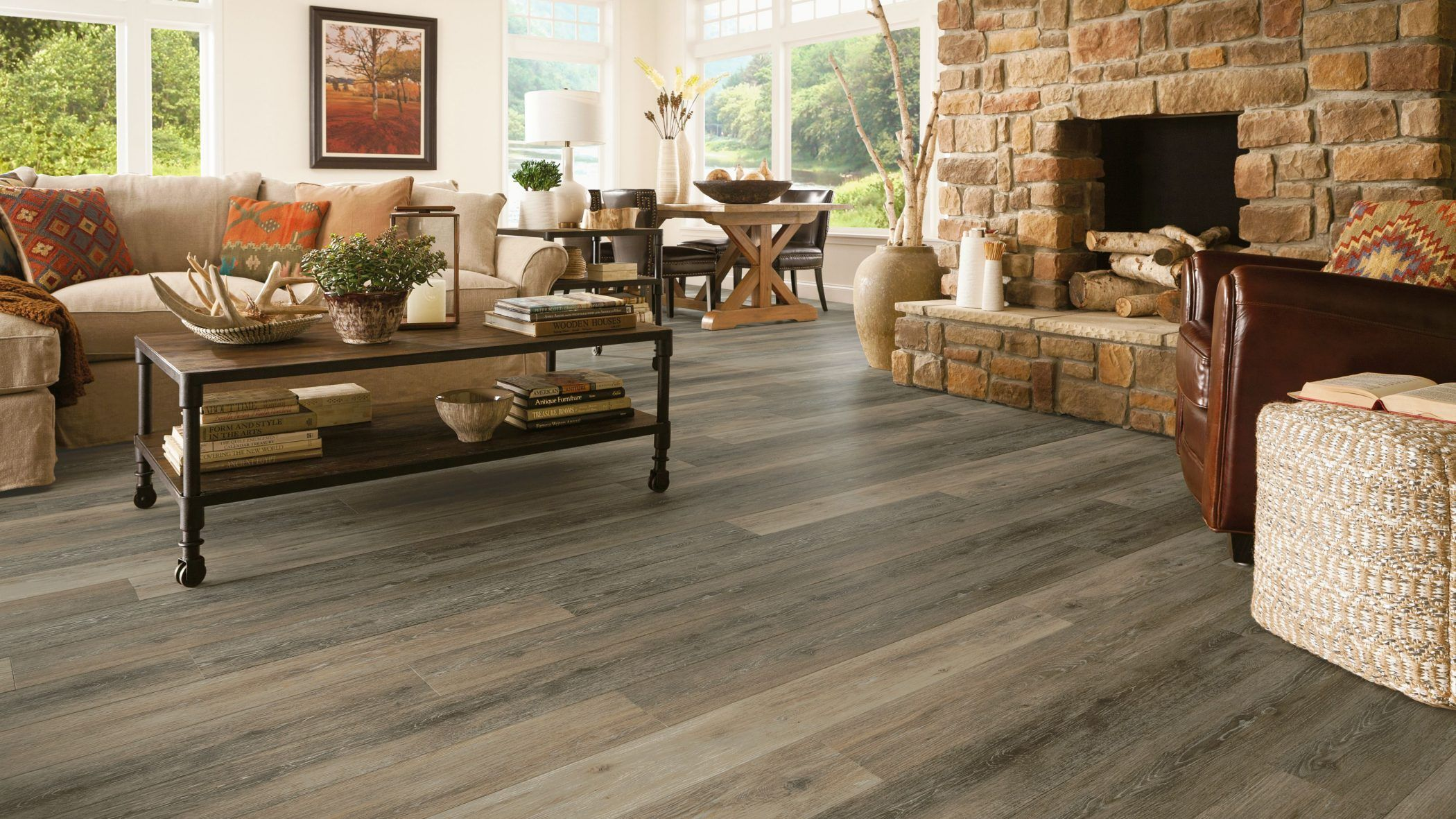 Luxe Plank Armstrong Flooring Residential Living Room