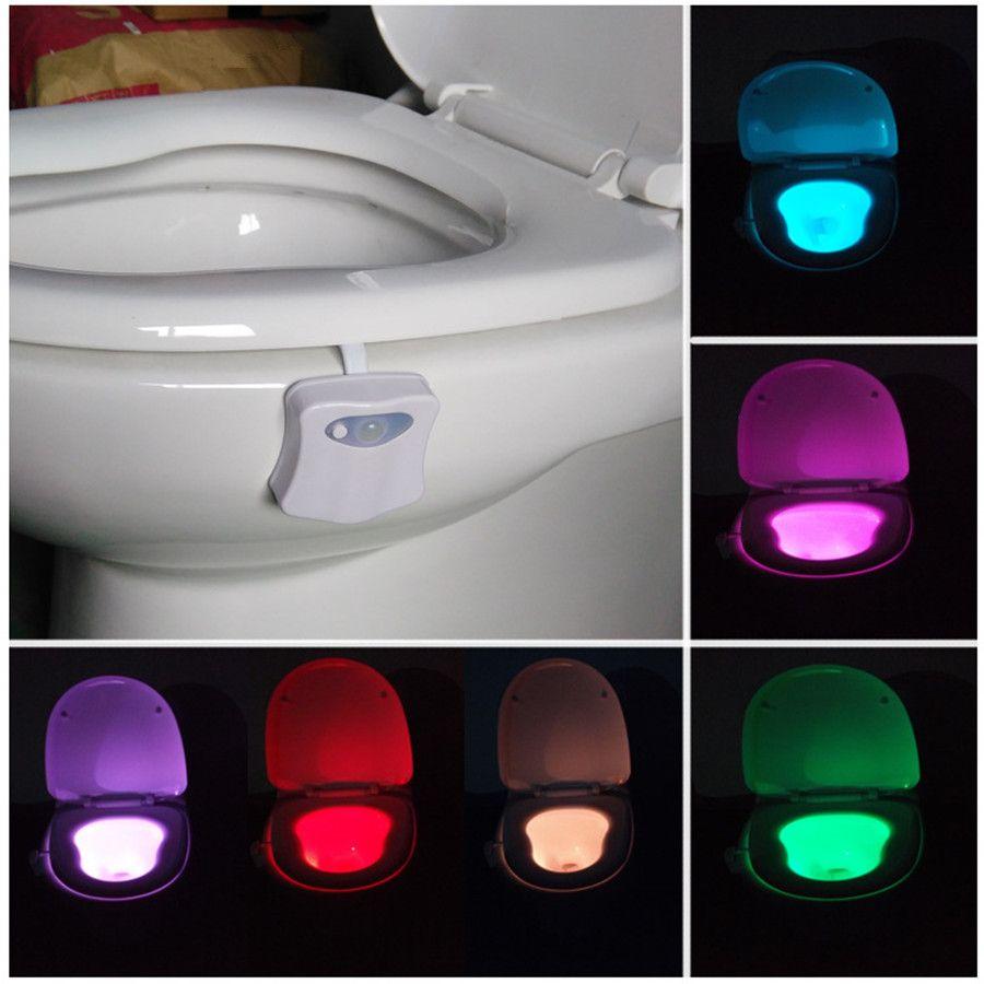 Led Bathroom Night Light smart led motion auto sensor activated toilet night light bathroom