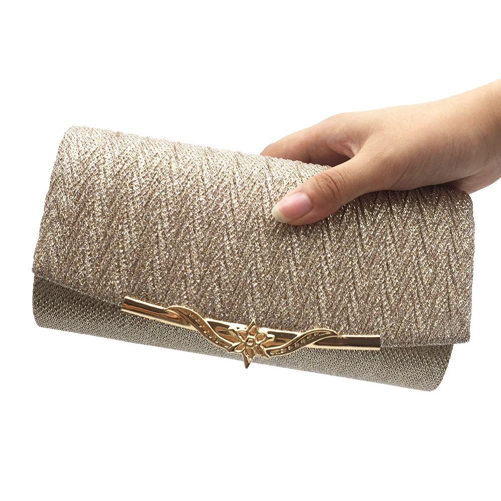 8 Colors Cheap Glitter Chain Clutches Bags Glitter Bag Bridal Clutch Purse Evening Bags