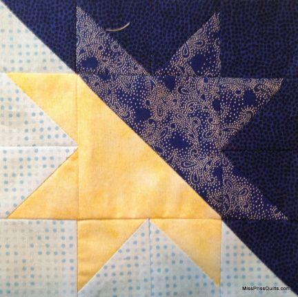 Free Tutorial: Morning star, evening star quilt block