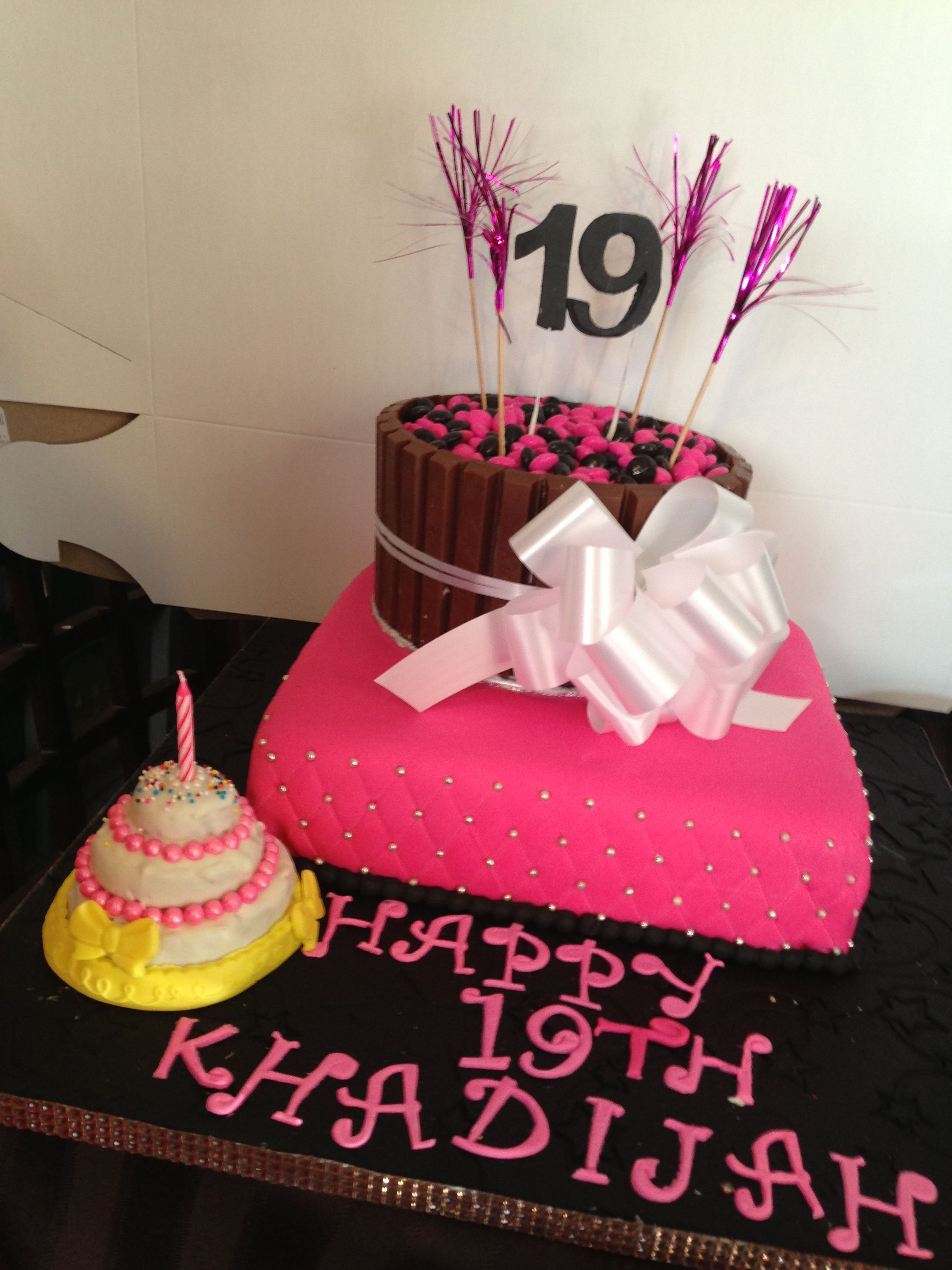 Pretty 19th Birthday Cake All Put Together Looks Delicious