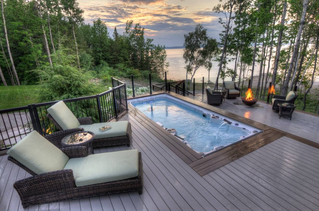 Hydropool 19fx Swim Spa Outdoor Spa Backyard Pool Designs