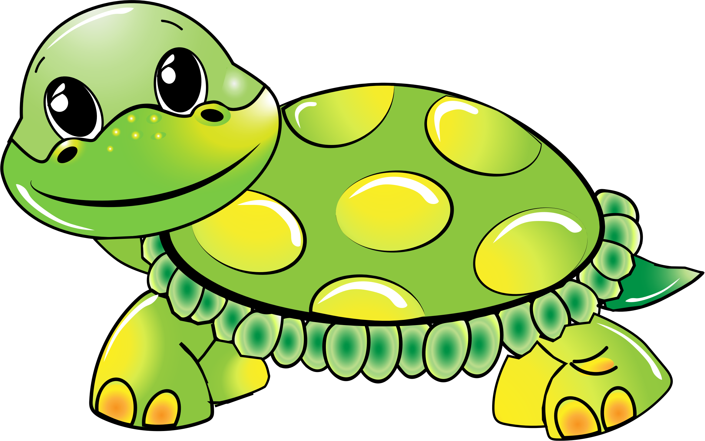 Turtle by a.tauzzi, A cute green turtle., on openclipart