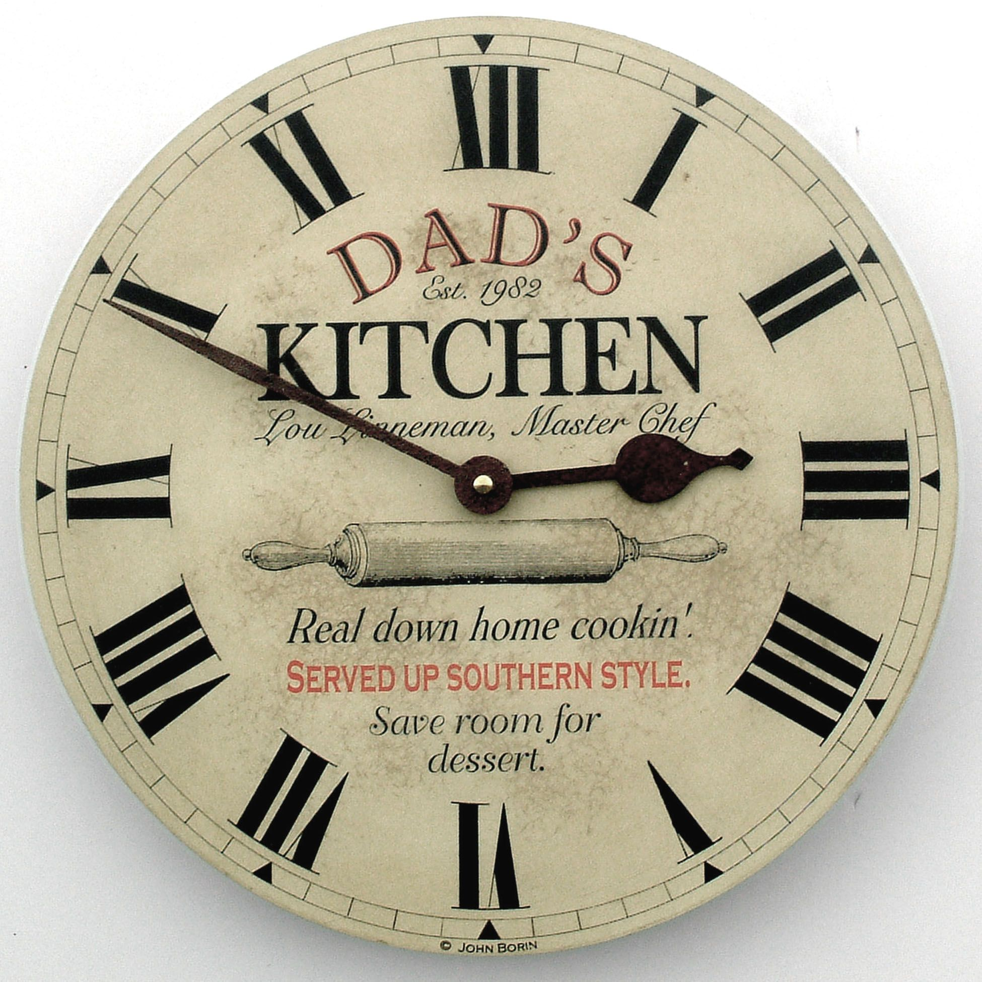 Dad's Kitchen custom clock by John Borin -- the perfect Fathers ...
