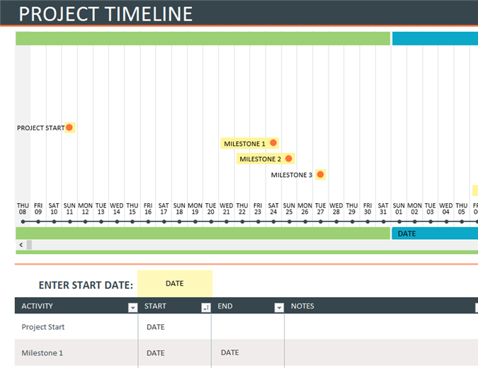 This Timeline Lets Users Visually Track Their Project Schedule