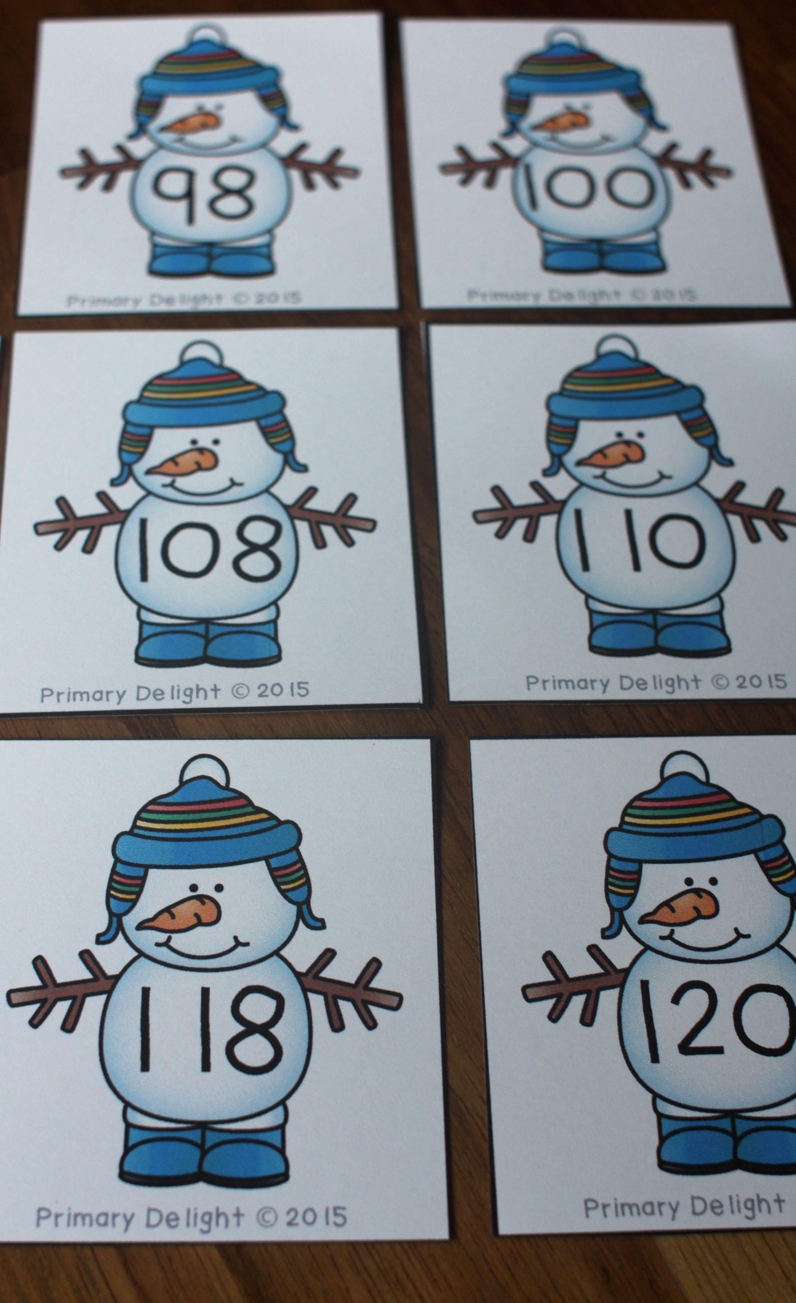 Skip Counting Cards Count By 2s With Snowmen Free