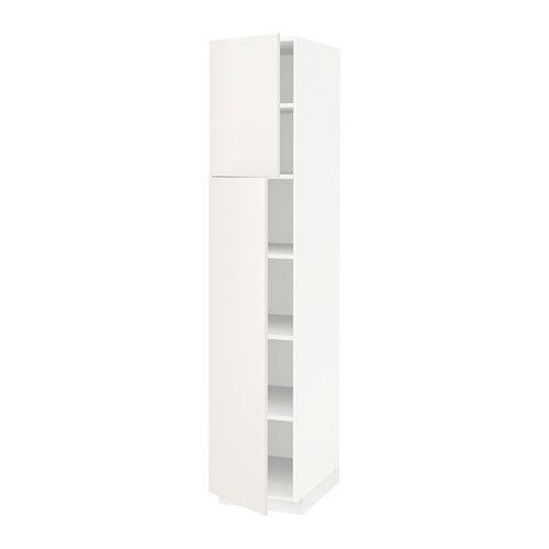 METOD Hochschr/Einlböd/2Türen - weiß, Veddinge weiß, 40x60x200 cm ...
