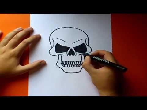 Como Dibujar Una Calavera Paso A Paso How To Draw A Skull Youtube Como Dibujar Una Calavera Calaveras Como Dibujar