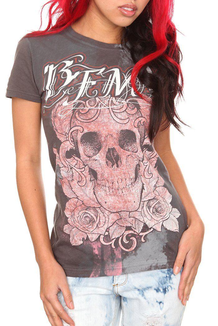 Bullet For My Valentine Skull Allover Print Girls T Shirt For Women