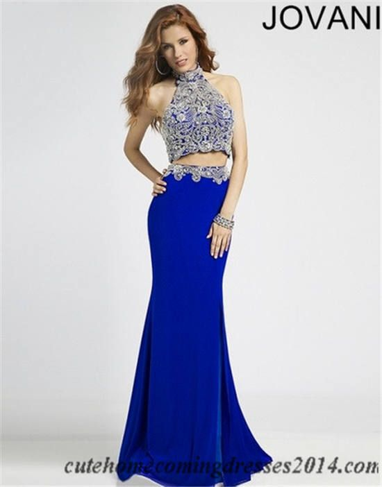 Jovani 20370 Beaded Two Piece Royal Long Prom Dresses 2015 | prom ...