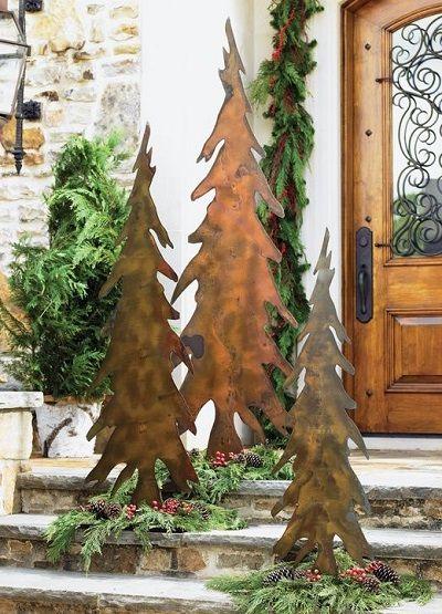 Rustic Metal Christmas Decor Love Log Cabin Christmas Outdoor Christmas Decorations Cabin Christmas