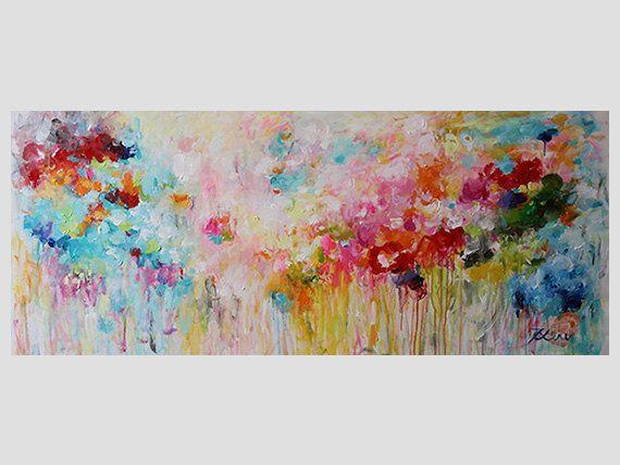 große Wand Kunst abstrakte Malerei große Gemälde von artbyoak1 - kunst fürs wohnzimmer