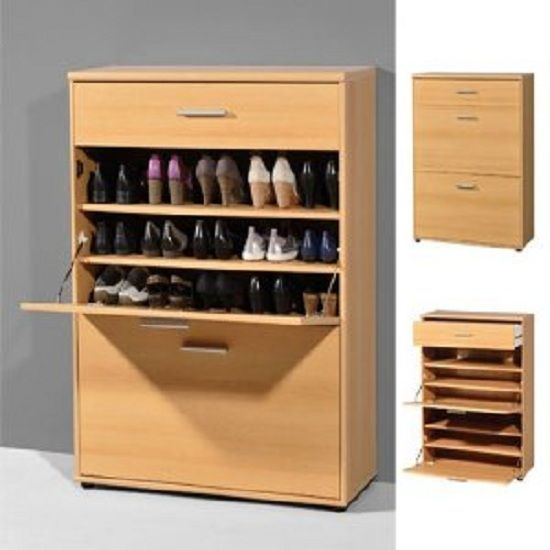 Exceptionnel Big Foot Shoe Cabinet In Beech With 1 Drawer And 2 Compartment