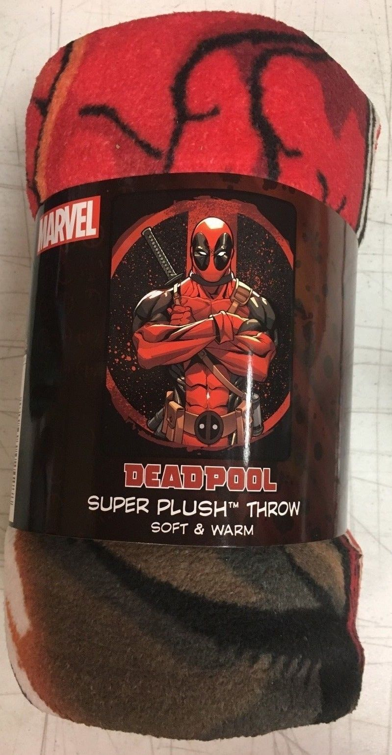 Blankets And Throws 66727 Marvel Deadpool Tough Guy Super Plush