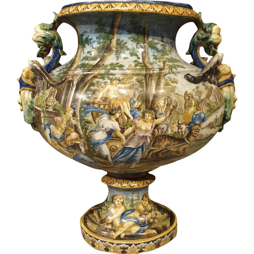 Large Decorative Urns And Vases Delectable A Large Antique Italian Faience Urn 19Th Century  Urn And 2018