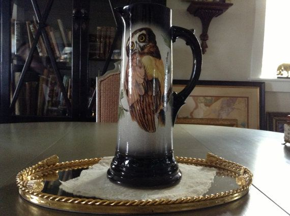 Large Owl Pitcher by SevenPeaksAntiques on Etsy, $28.00