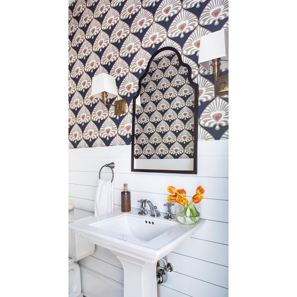Palmetto Wallpaper Serena And Lily Wallpaper Peal And Stick Wallpaper Bathroom Decorating Styles