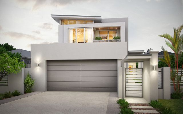 Modern Garage Doors Design Ideas Narrow Lot House Plans Modern