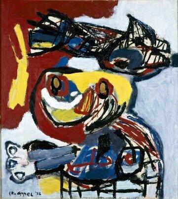 Vogel En Mens Kunstwerk Kunst Moderne Kunst
