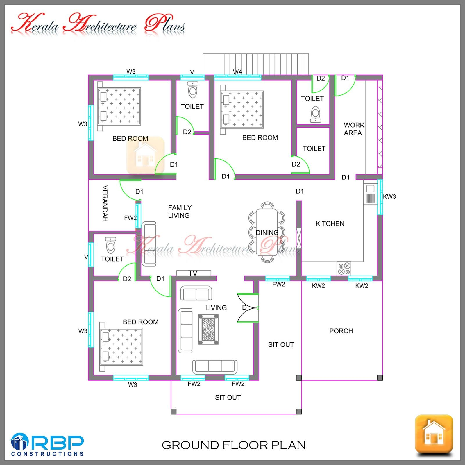 House Plans Kerala Style Below 2000 Sq Ft Model House Plan Kerala House Design New House Plans