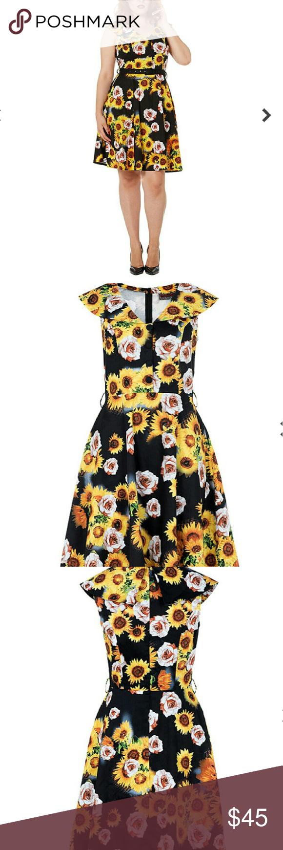 b0e86a1aa8ee Voodoo Vixen Sunflower dress NWT, sleeveless with sunflowers ModCloth  Dresses