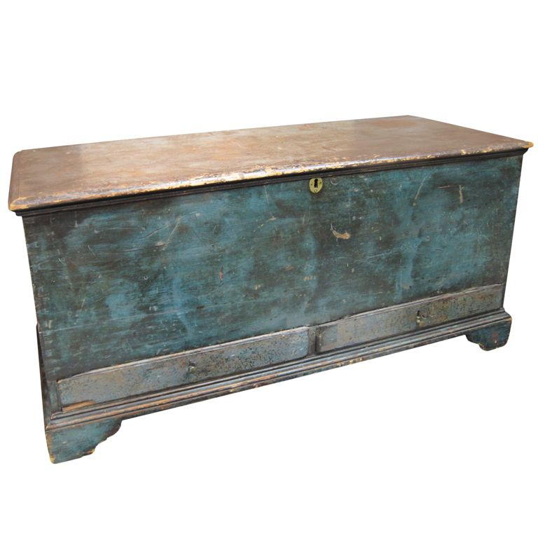 Chippendale Blanket Chest In Blue Paint Got The Blues In